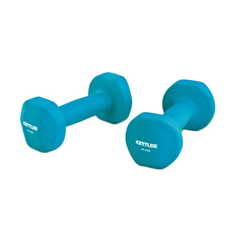 Kettler 0804 Dumbbell Neoprene - Blue [8 kg/pair]