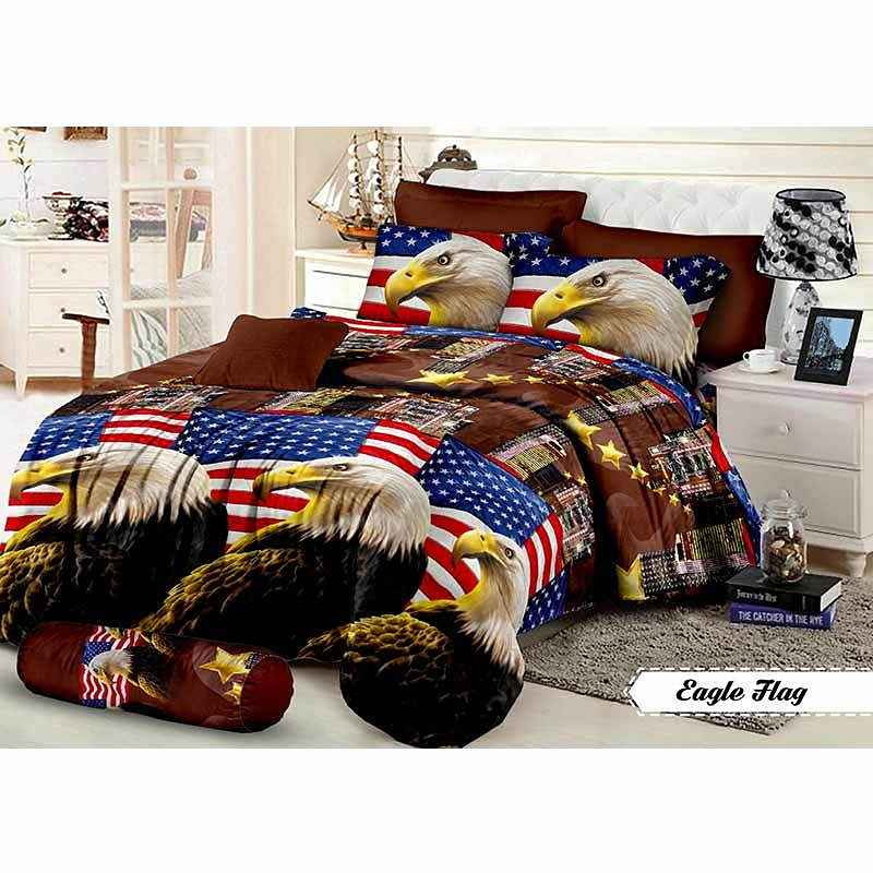 Khawla Disperse Eagle Flag Set Sprei dan Bed Cover