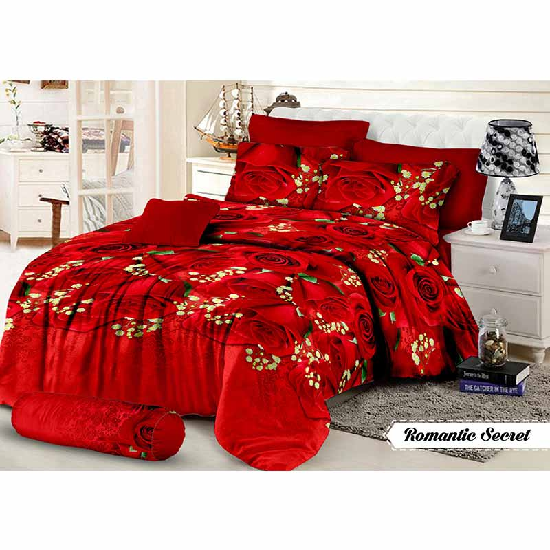 Khawla Disperse Romantic Secret Set Sprei dan Bed Cover