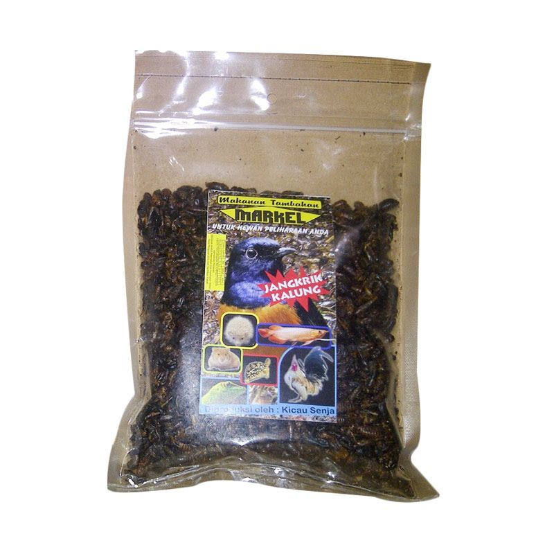 Markel Jangkrik Kering Makanan Burung [200 gr/Refill]