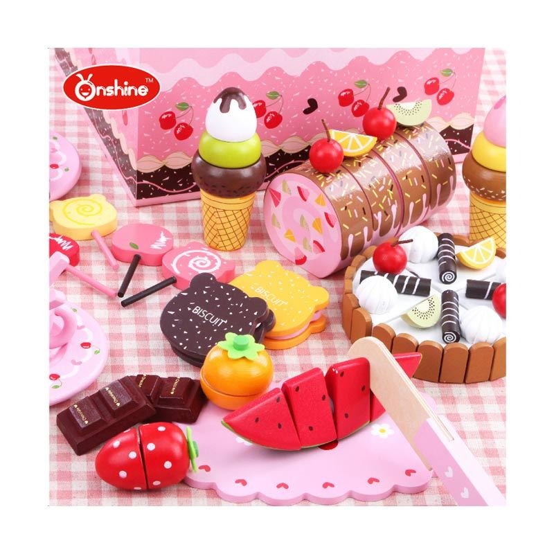 Kids Aptitude Cherry Bear Chocolate Dessert Party Set Mainan Anak