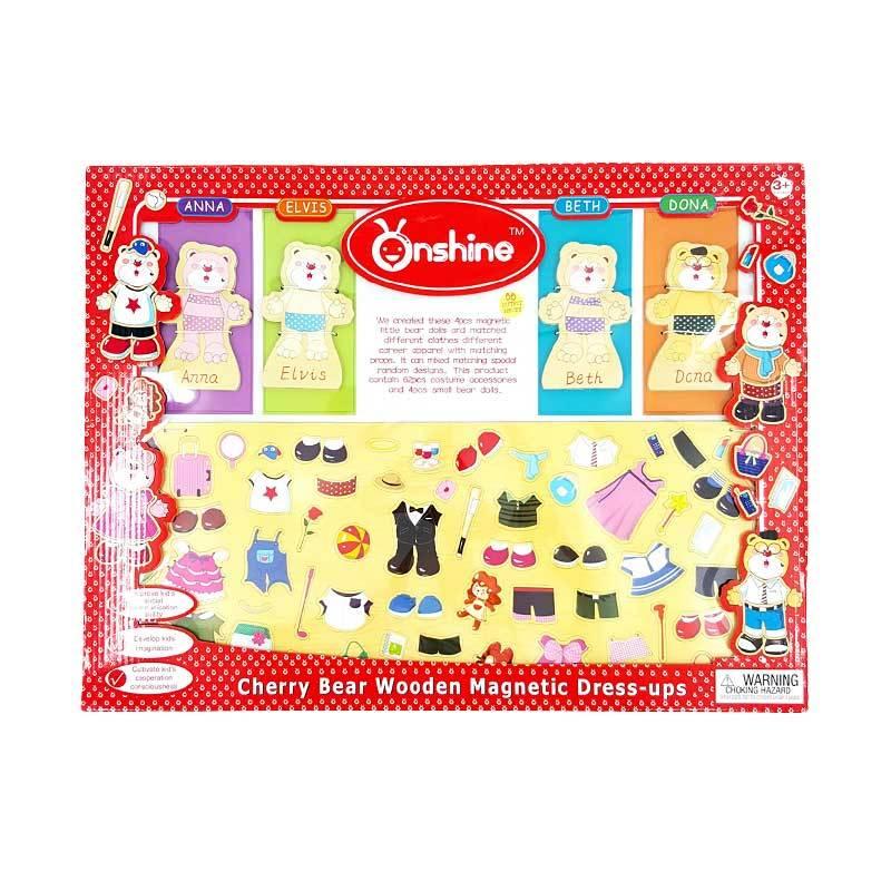 Kids Aptitude Cherry Bear Dress Up Mainan Anak