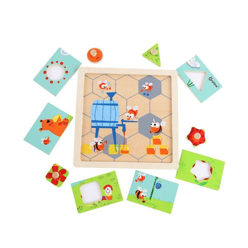 Kids Aptitude Honey Bee Puzzle Mainan Anak