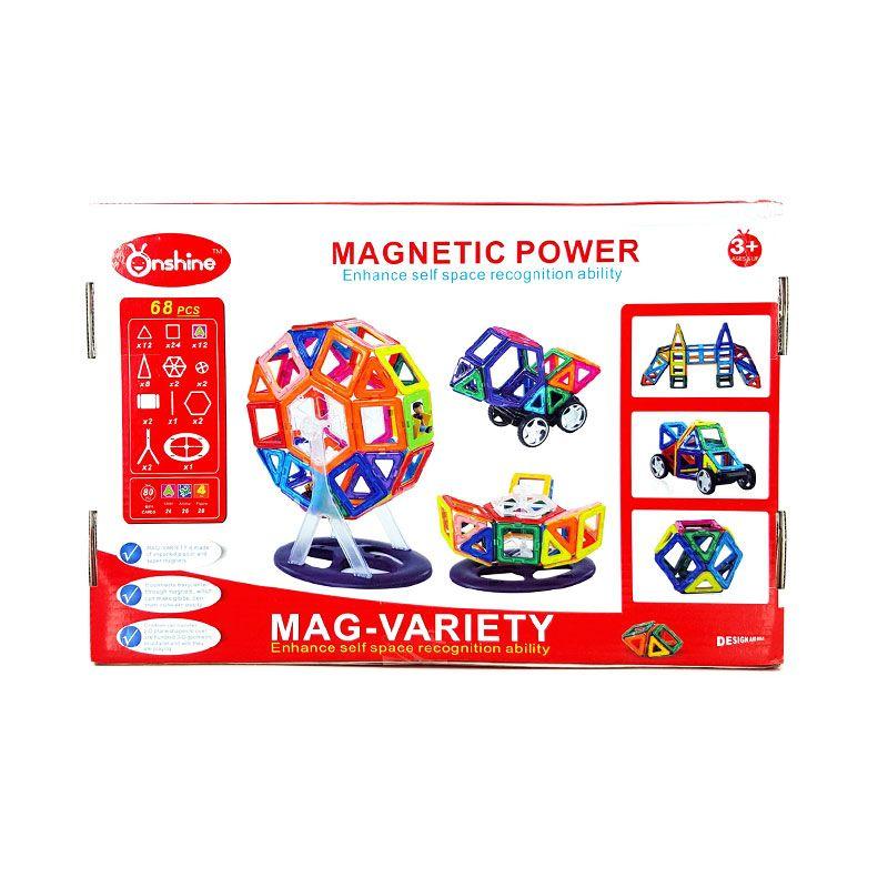 Kids Aptitude Magnetic Creativity Set Mainan Anak [68 Pcs]