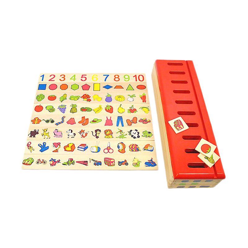 harga Kids Aptitude Match Images Montessori Toy Mainan Anak Blibli.com