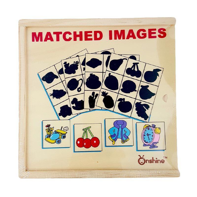 Kids Aptitude Matching Pairs Wooden Puzzle Mainan Anak