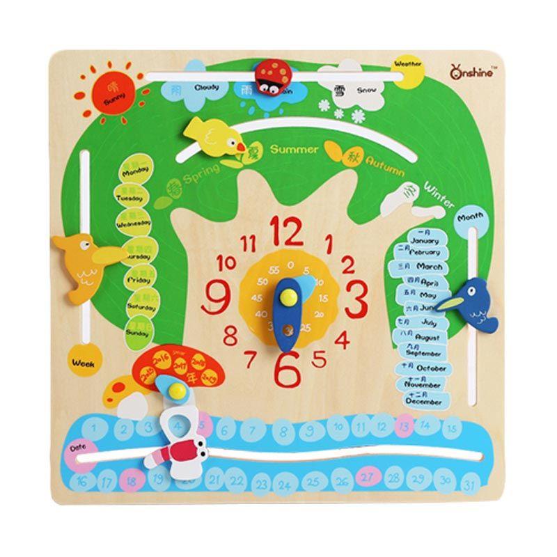 Kids Aptitude Time Cognitive Puzzle Mainan Anak