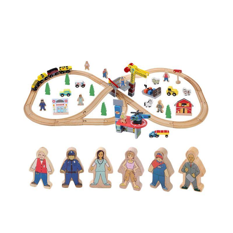 Kids Aptitude Train Tracks Construction Mainan Anak [70 Pcs]