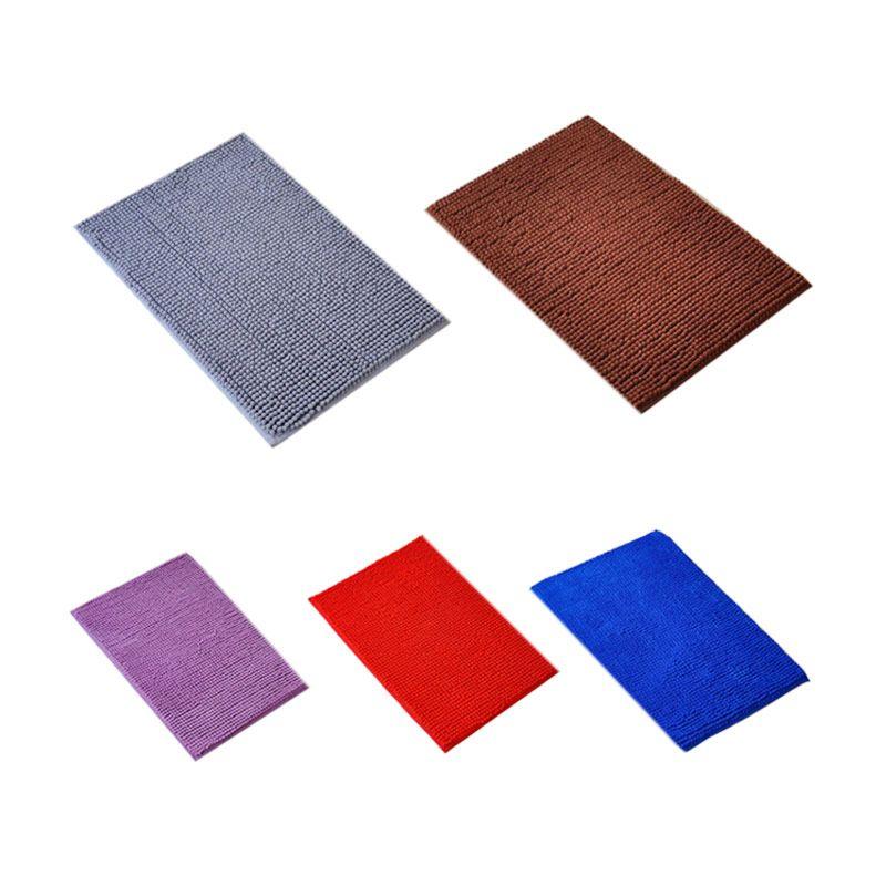 Monkizz Microfiber Multicolor Set Keset [5 Pcs/Biru/Ungu/Coklat/Merah/Abu-Abu]