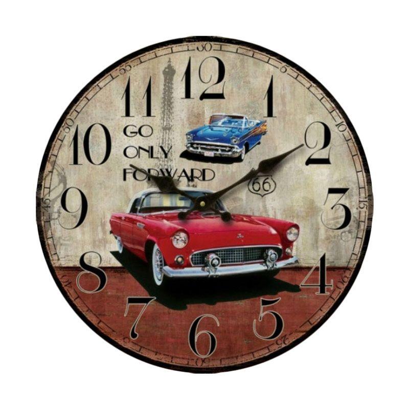 jual monkizz vivian wooden vintage car series jam dinding on