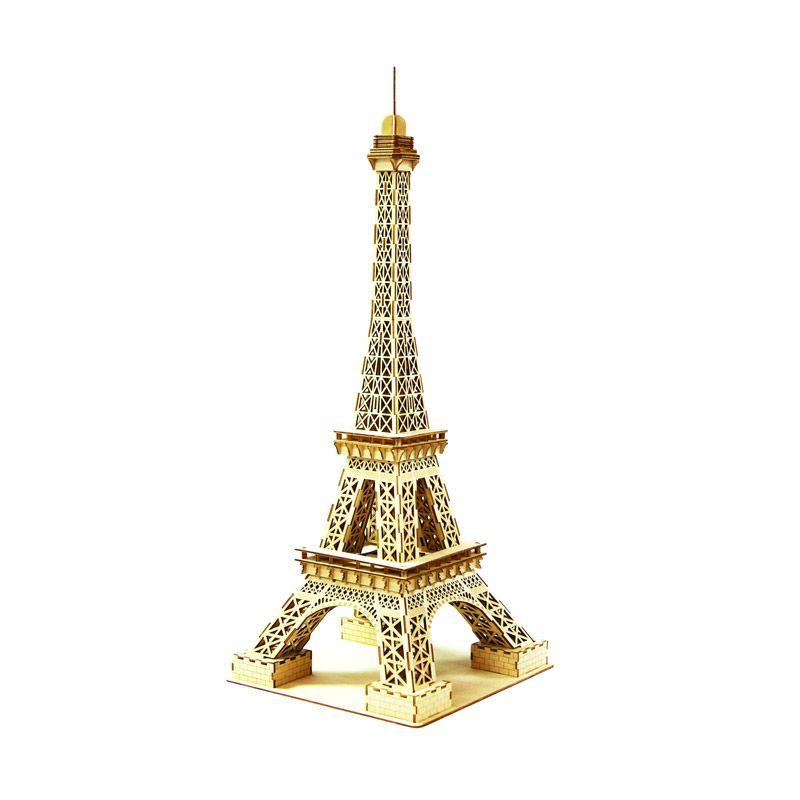 Kigumi 3D Puzzle Kayu Menara Eiffel Model Kit [Kecil]