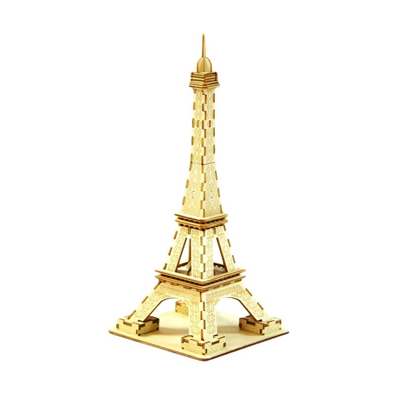 Kigumi 3D Puzzle Kayu Menara Eiffel Model Kit [Besar]