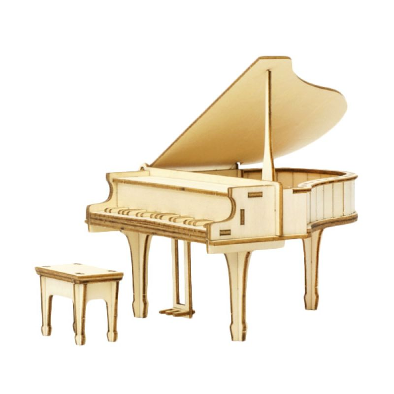 Kigumi 3D Puzzle Kayu Piano Model Kit