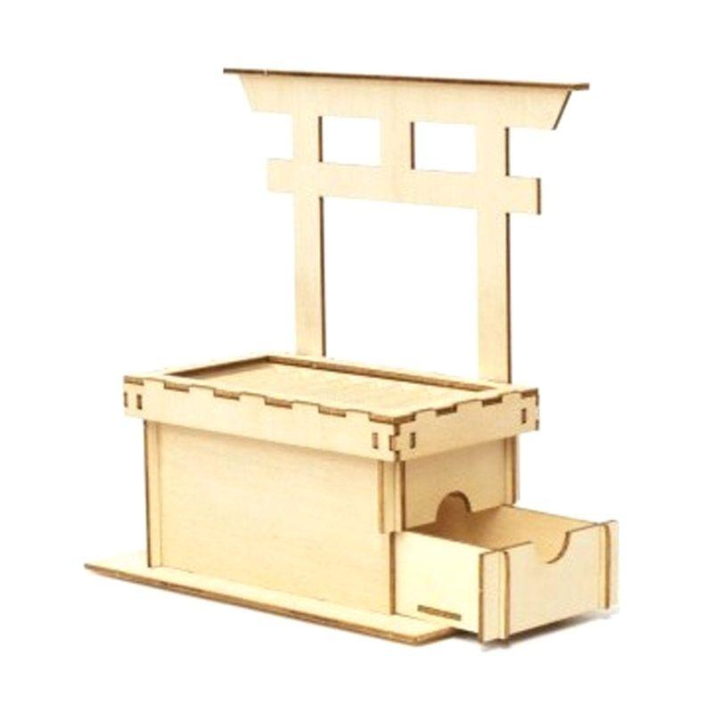 Kigumi 3D Puzzle Kayu Saisen-Bako Celengan koin Model Kit