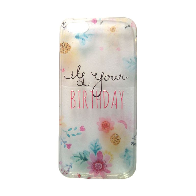 KIM Kimi Custom Pudding Printing Korean Style Lily Blossom Flower Softcase Casing for Apple iPhone 5 or 5S