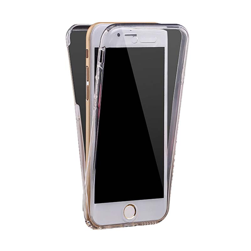 KIM TPU 2 Side Casing for iPhone 6 - Clear Transparant [Front and Back]