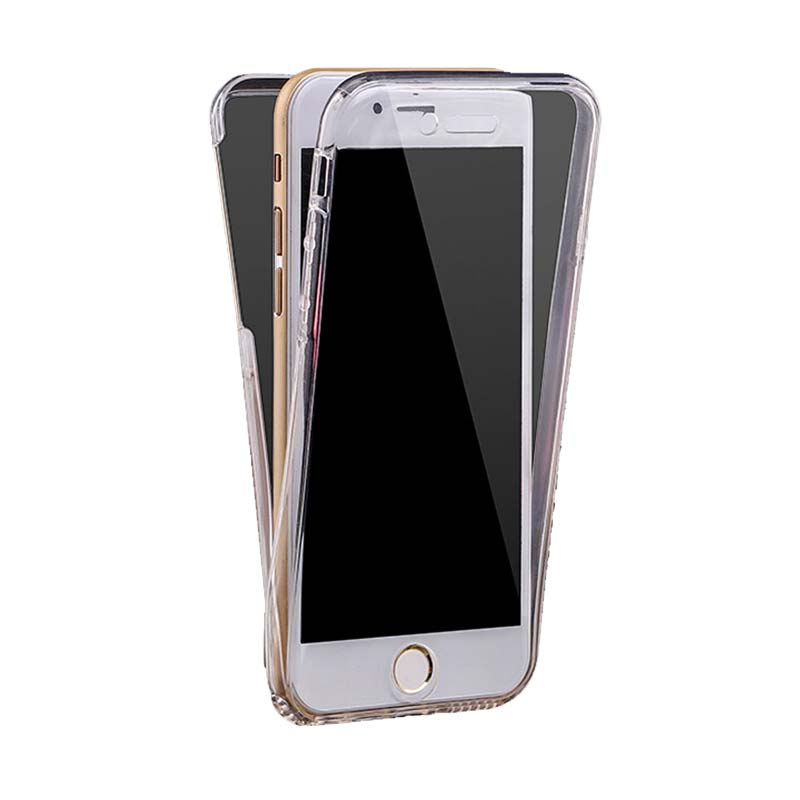 KIM TPU 2 Side Casing for iPhone 6 Plus - Clear Transparant [Front and Back]