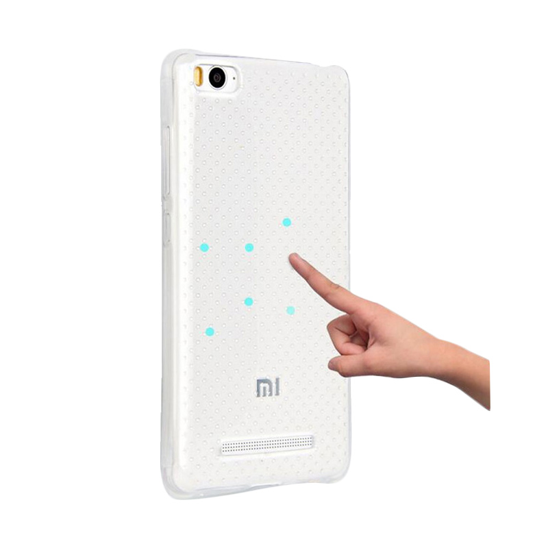 KIM TPU Protector Cover Casing for Xiaomi 4C or M41 - Clear Transparant