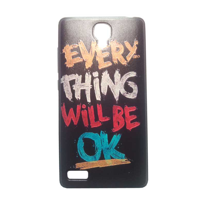KIM Kimi Custom Pudding Printing Korean Style Everything Will Be Ok Casing for Xiaomi Redmi Note