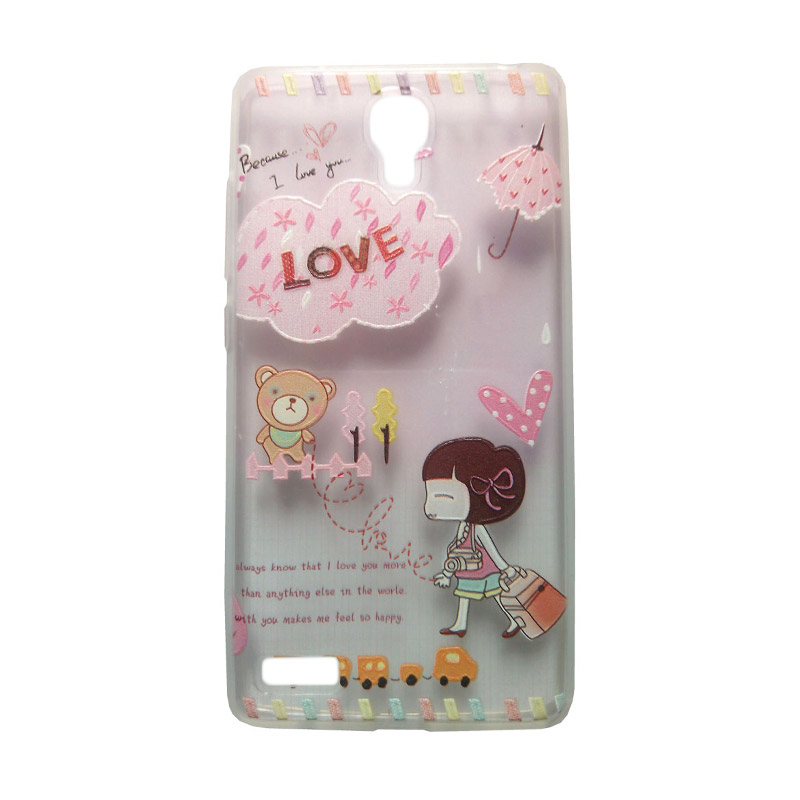 KIM Kimi Custom Pudding Printing Korean Style Little Girl Love Casing for Xiaomi Redmi Note