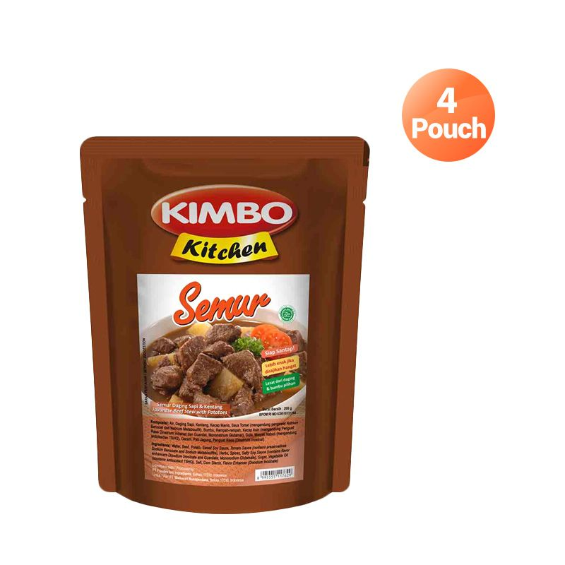 Kimbo Kitchen Beef Semur Makanan Instan [4 Pcs]