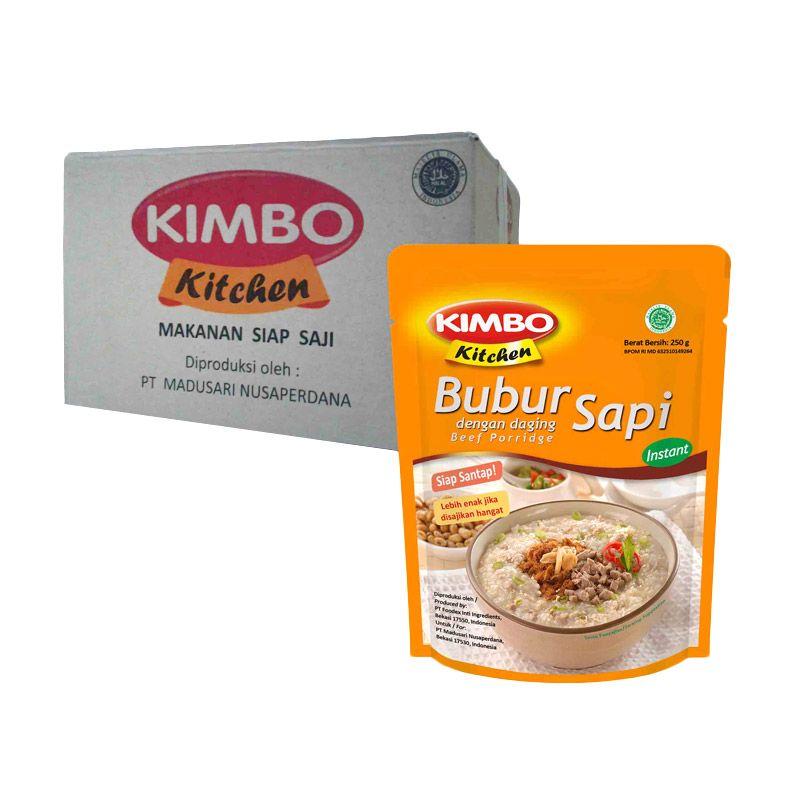 Kimbo Kitchen Bubur Sapi Makanan Instan [18 Pcs]