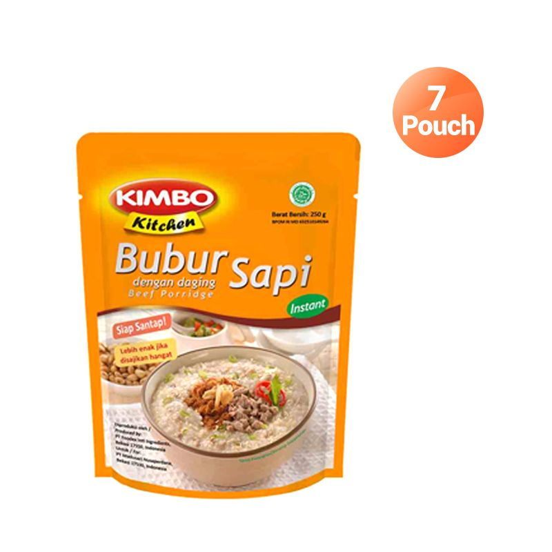 Kimbo Kitchen Bubur Sapi Makanan Instan [7 Pcs]