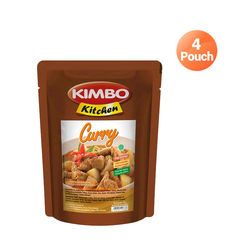 Kimbo Kitchen Chicken Curry Makanan Instan [4 Pcs]