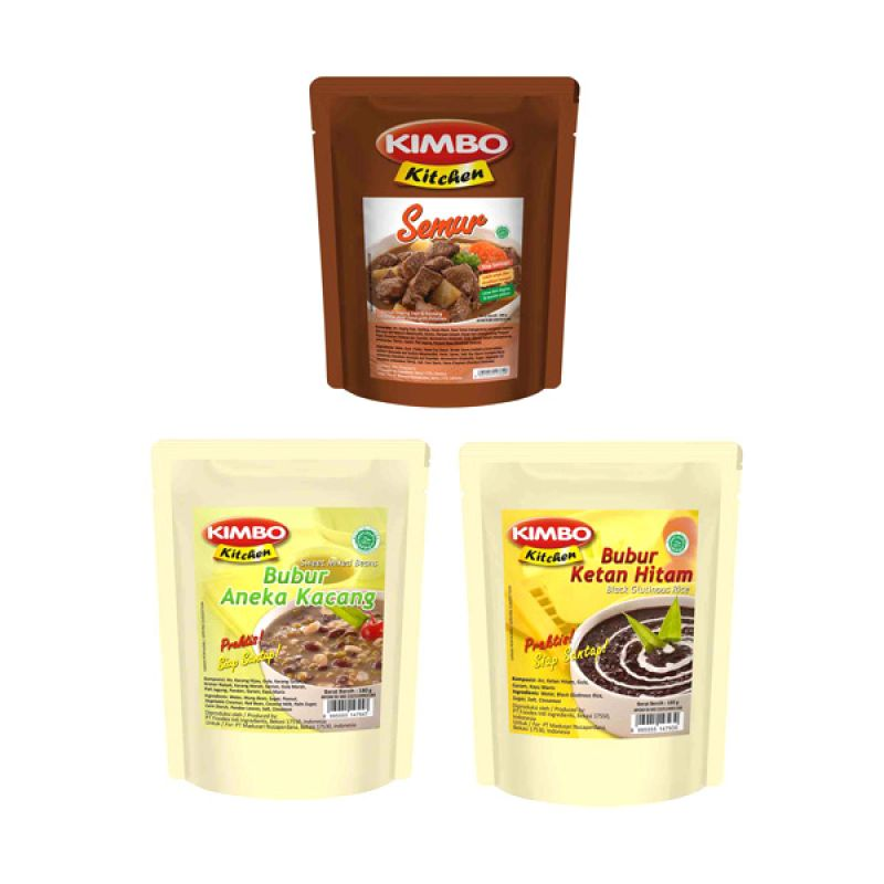 Kimbo Kitchen Makanan Instan [Paket 20]