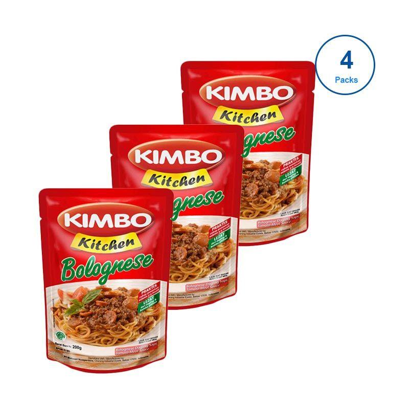 Kimbo Kitchen Saus Bolognese Makanan Instan [4 Pcs]