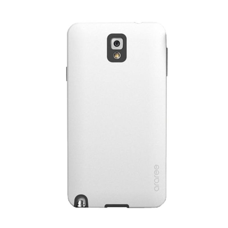 Araree Back Korean Putih Hitam Casing for Samsung Galaxy Note 3
