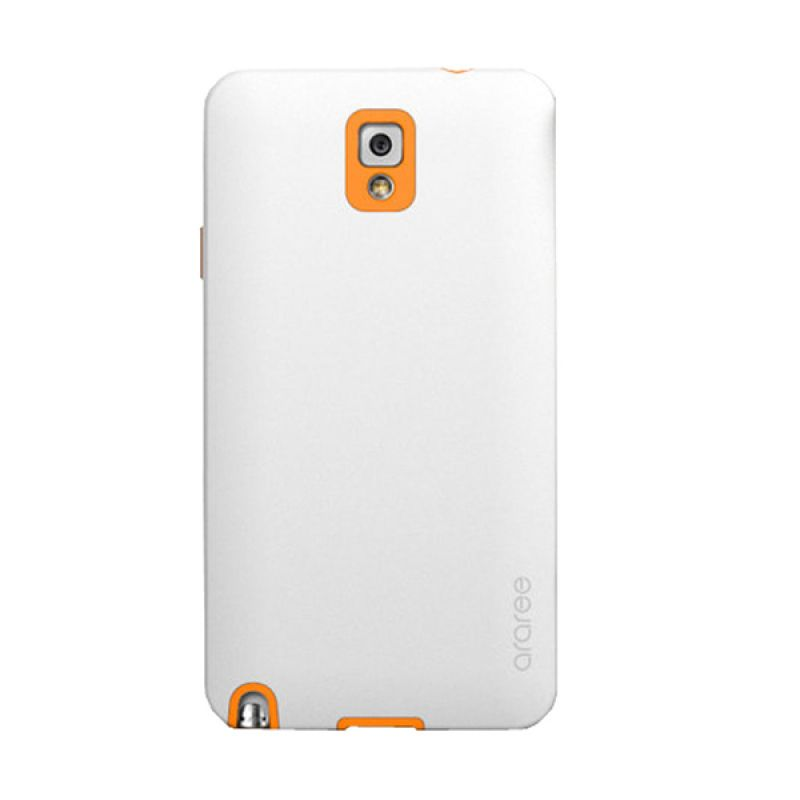 Araree Back White Orange Casing for Samsung Galaxy Note 3