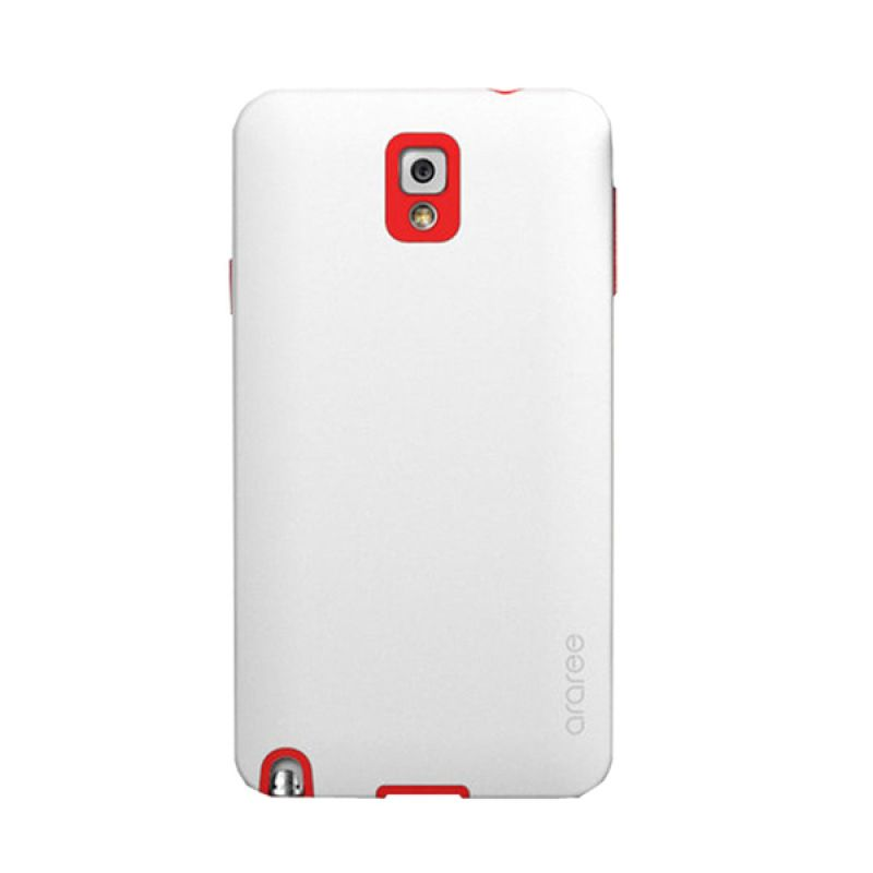 Araree Back White Red Casing for Samsung Galaxy Note 3
