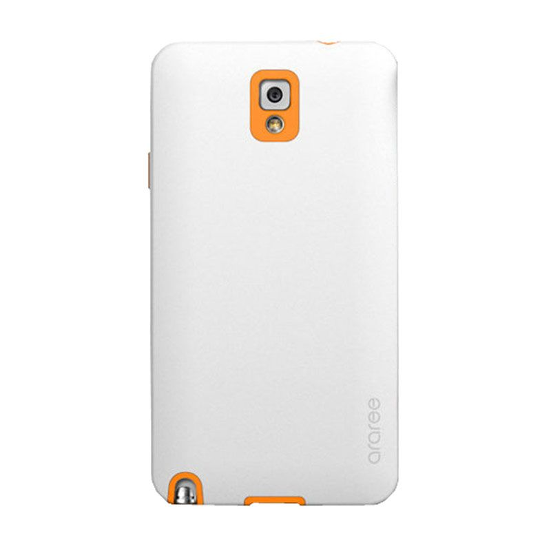 Araree Korean Cute Putih Oranye Casing for Samsung Galaxy Note 3