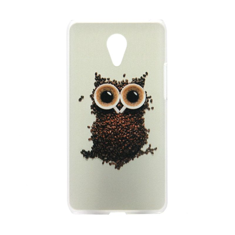 Kimi Custom Printing Vintage Owl Putih Back Cover Casing for Xiaomi Redmi Note