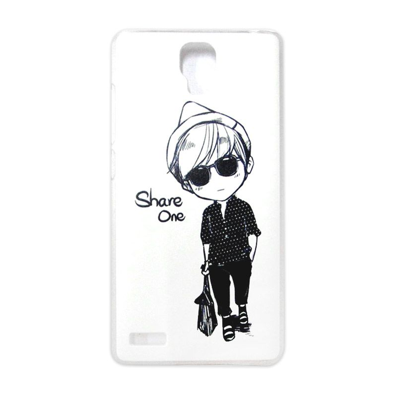 Kimi Custom Printing Comic Boy Putih Back Cover Casing for Xiaomi Redmi Note