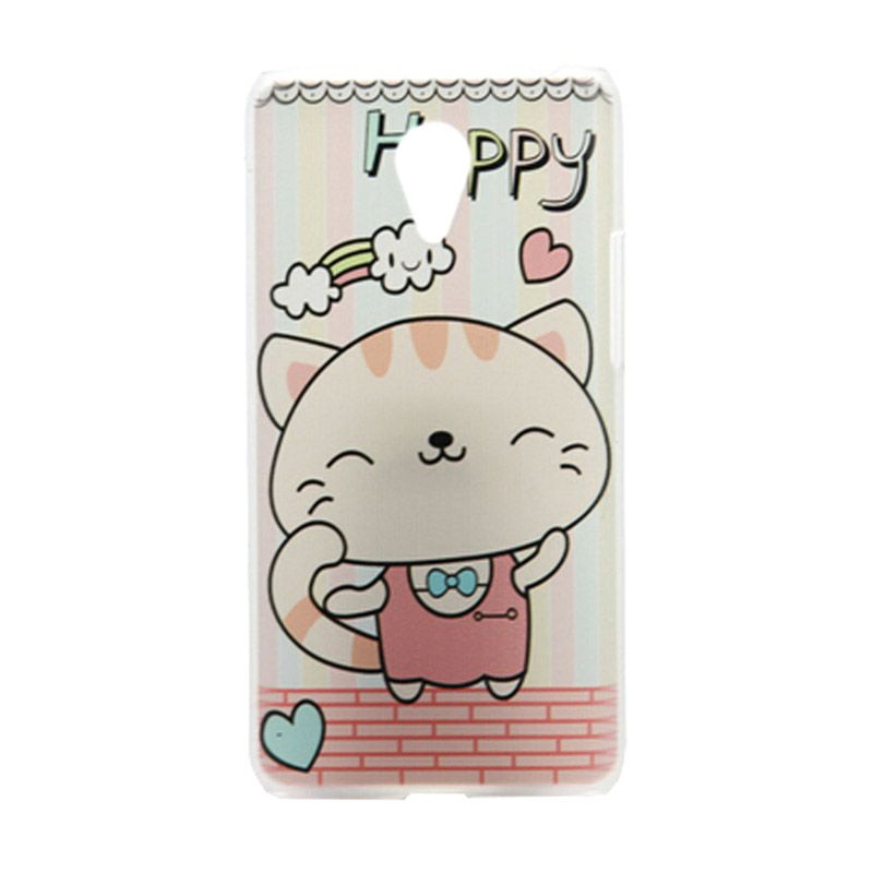 Kimi Custom Printing Happy Cat Multicolor Back Cover Casing for Xiaomi Redmi Note