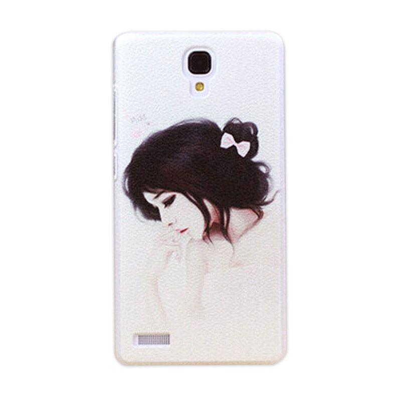 Kimi Custom Printing Japanese Lady Putih Back Cover Casing for Xiaomi Redmi Note