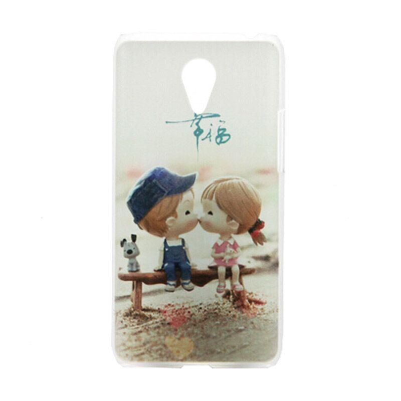 Kimi Custom Printing Kissing Doll Putih Back Cover Casing for Xiaomi Redmi Note