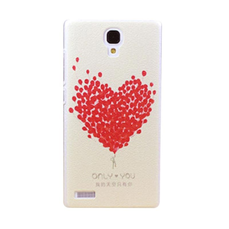 Kimi Custom Printing Red Love Multicolor Back Cover Casing for Xiaomi Redmi Note
