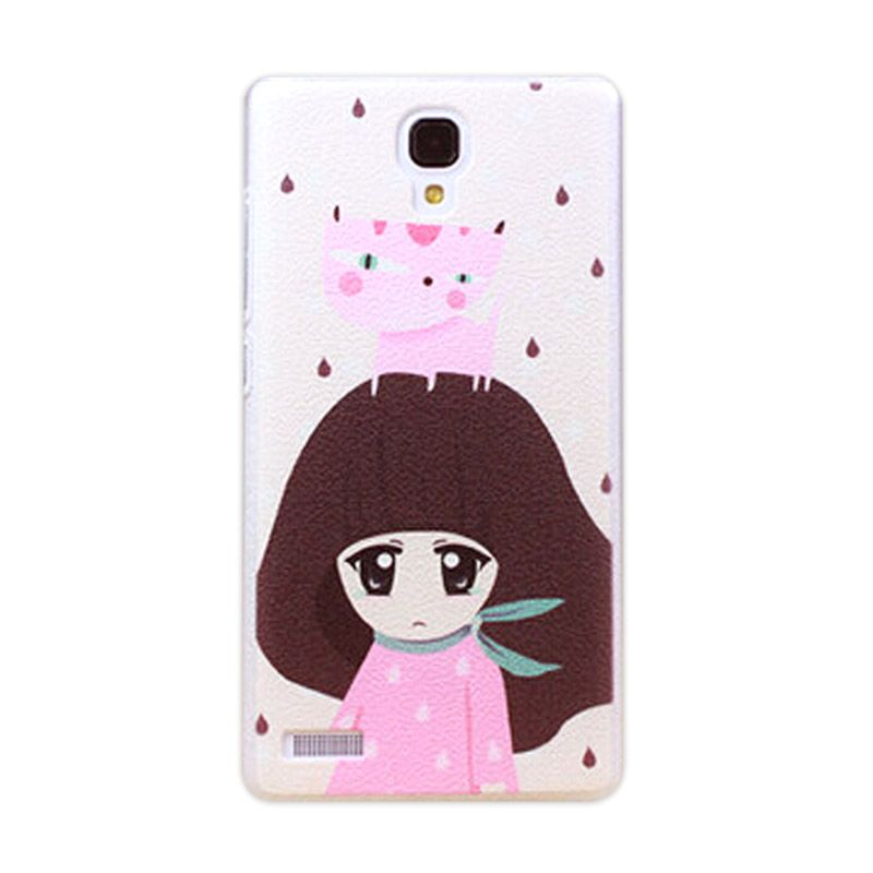 Kimi Custom Printing Snowy Girl Putih Back Cover Casing for Xiaomi Redmi Note
