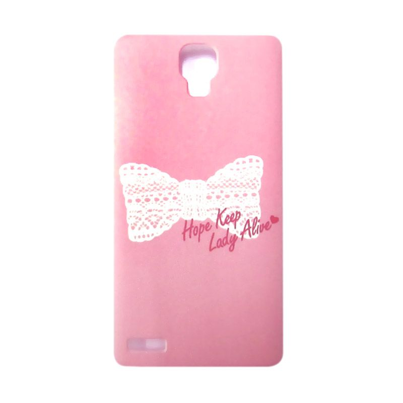 Kimi Custom Printing Sweet Ribbon Pink Back Cover Casing for Xiaomi Redmi Note