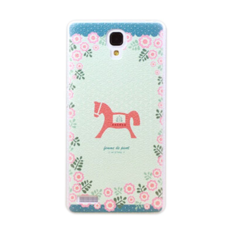 Kimi Custom Printing Vintage Horse Multicolor Back Cover Casing for Xiaomi Redmi Note