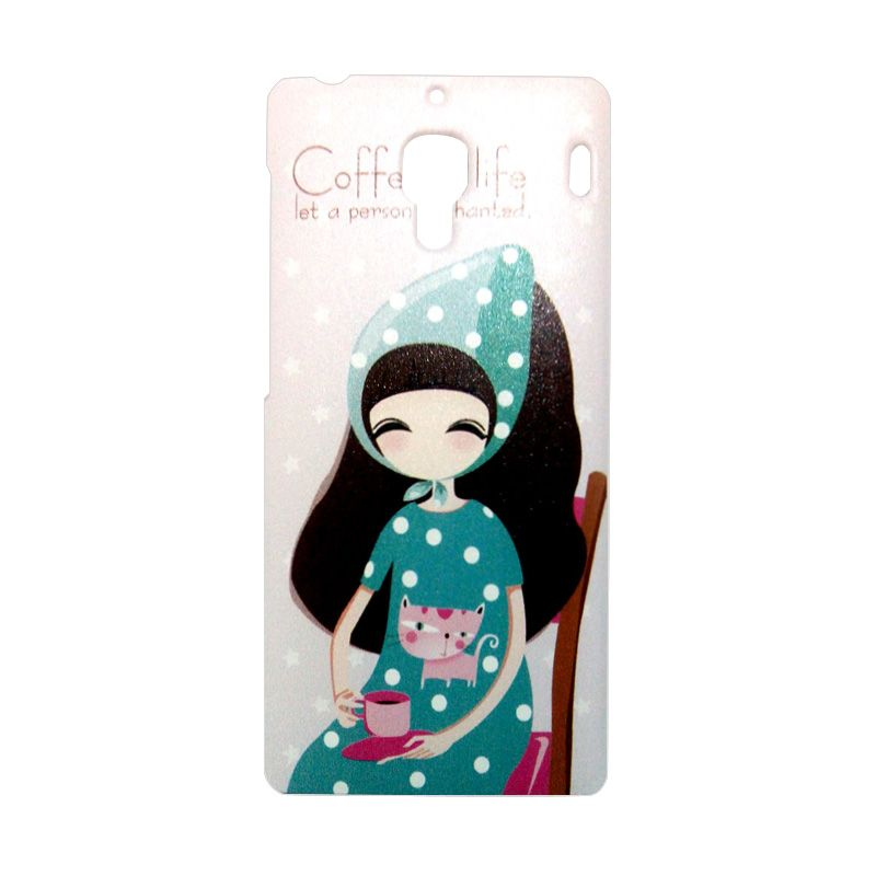 Kimi Custom Printing Fashion Korean Coffee Girl Casing for Xiaomi Redmi 1S