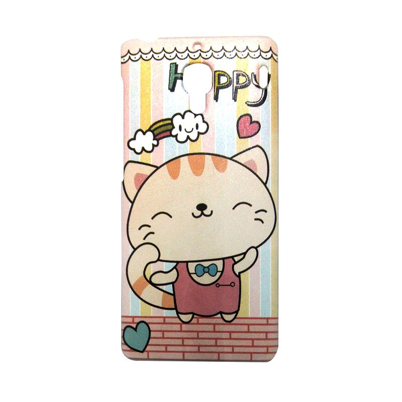 Kimi Custom Printing Fashion Korean Happy Cat Casing for Xiaomi Redmi 1S