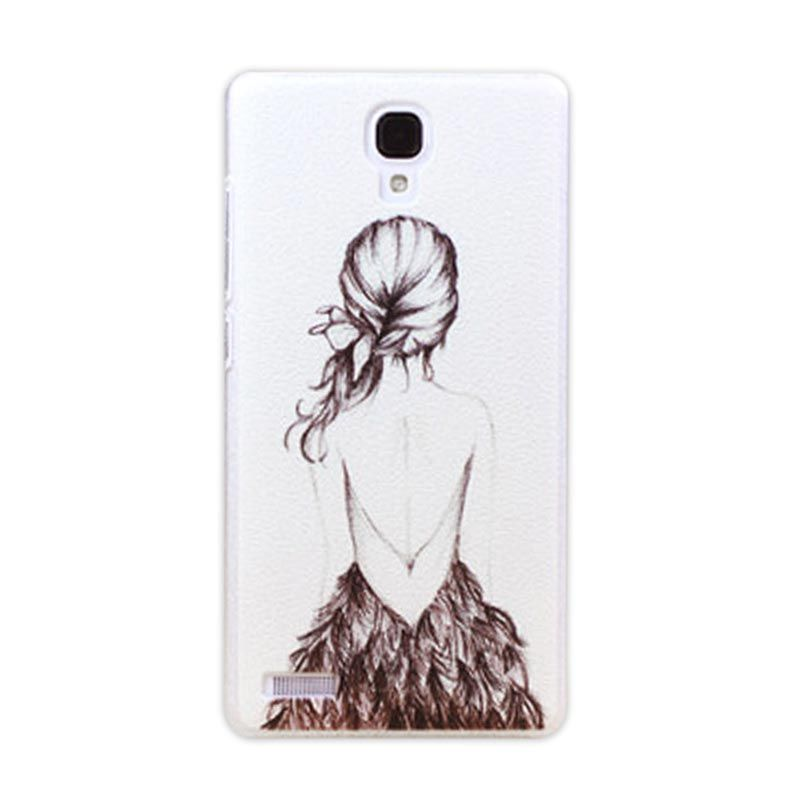 Kimi Custom Printing Korean Style Girl on Waiting Casing for Xiaomi Redmi Note