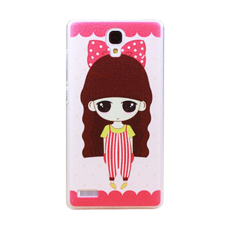 Kimi Custom Printing Korean Style Girl with Ribbon Casing for Xiaomi Redmi Note