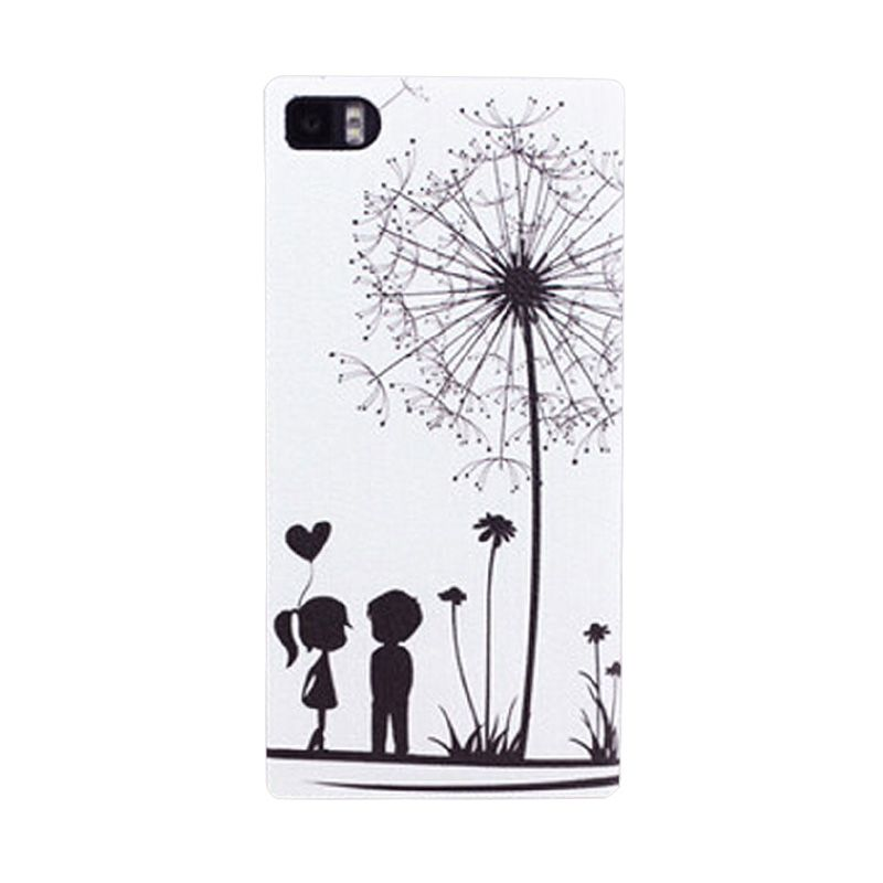 Kimi Custom Printing Spring Couple Putih Casing for Xiaomi Redmi Note