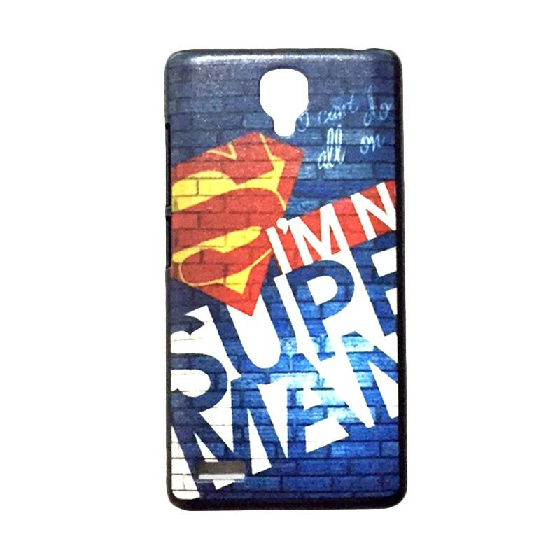 Kimi Custom Printing Superman Biru Casing for Xiaomi Redmi Note