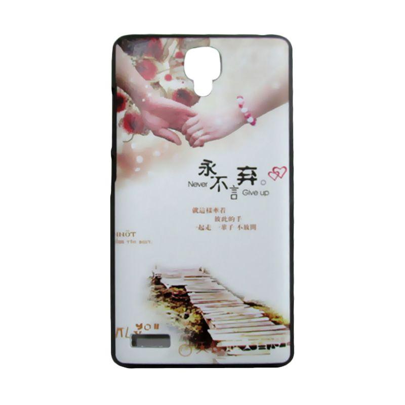 Kimi Custom Printing Togetherness Krem Casing for Xiaomi Redmi Note